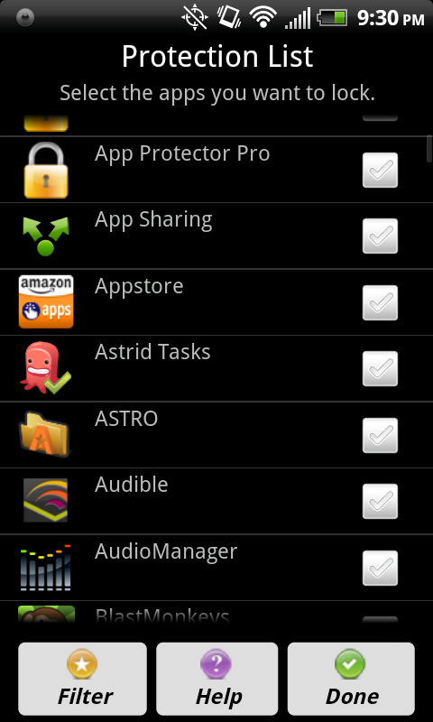App Protector Pro App Lock for Android - Version