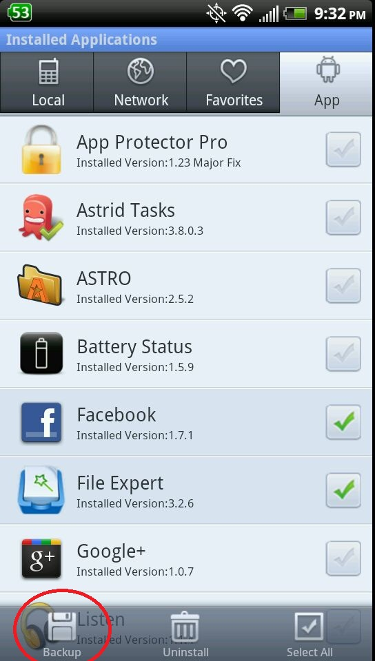 How to backup Android Apps and save them to APK file
