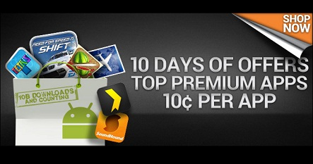10 Days of Top Premium Android Apps for 10 cents each!