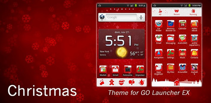 How to install an Android Theme for the Holidays