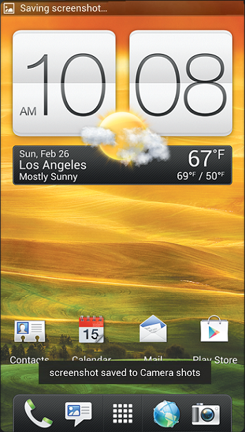 How to take a screenshot on the HTC One X (free - no app required!)