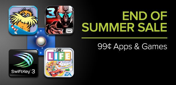 Google Play having End of Summer Sale – 99 cent Apps & Games!