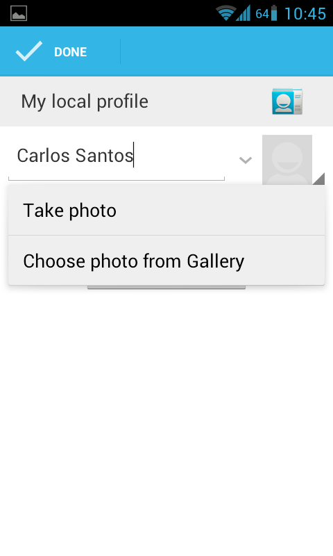 how to add contact photos on android