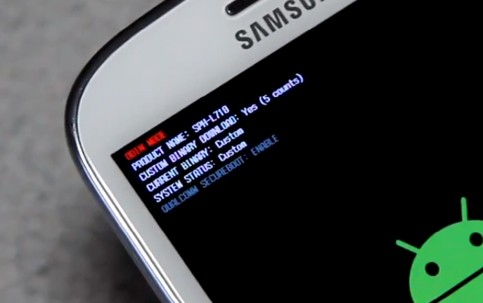 reset binary flash counter samsung