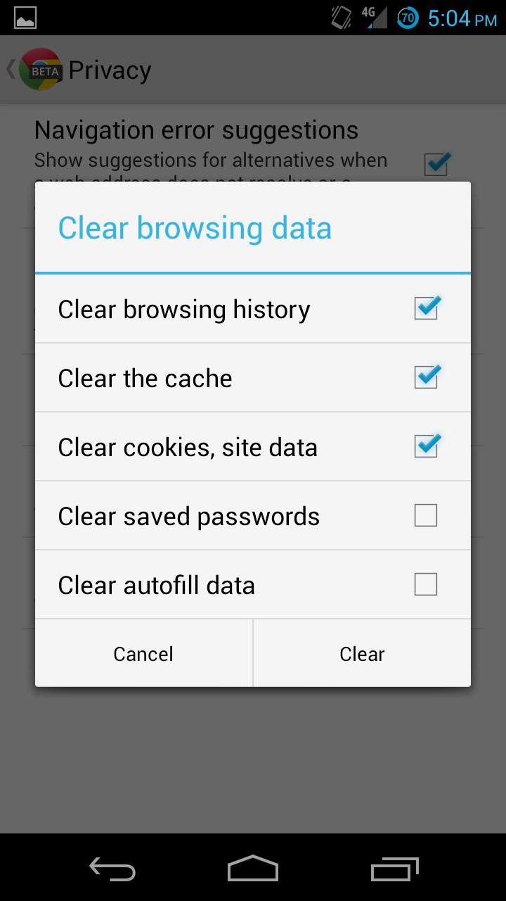 how to delete auto search on google chrome