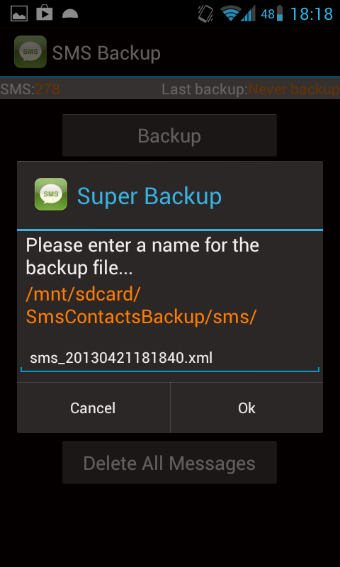 How to Backup Contacts and SMS to SD Card on Android