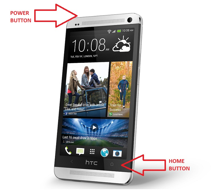 Htc home button takes pictures.