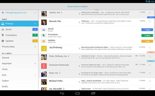 Review of the New Gmail App for Android