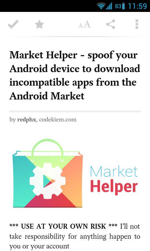 Save It For Later with the Pocket App for Android | Droid