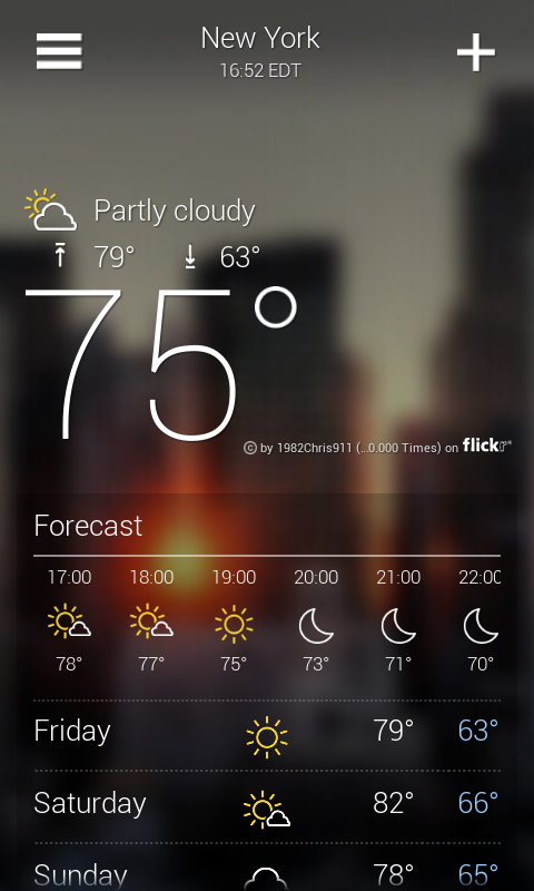 Yahoo! Weather App for Android | Droid Lessons