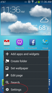 Galaxy S4 Settings