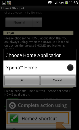 Home2 Shortcut home launcher