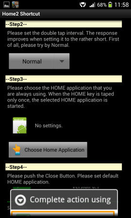Home2 Shortcut interval