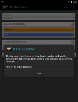 Transfer files between Android device and computer WiFi File Explorer