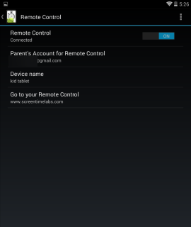 Screen Time remote