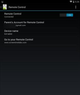 Screen Time remote
