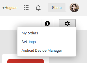 old devices Play Store settings