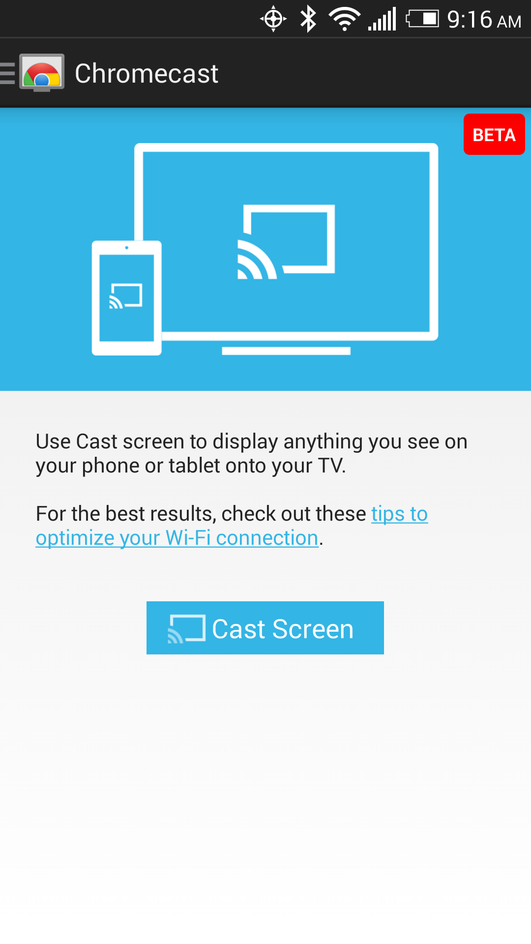 Chromecast Screen Casting