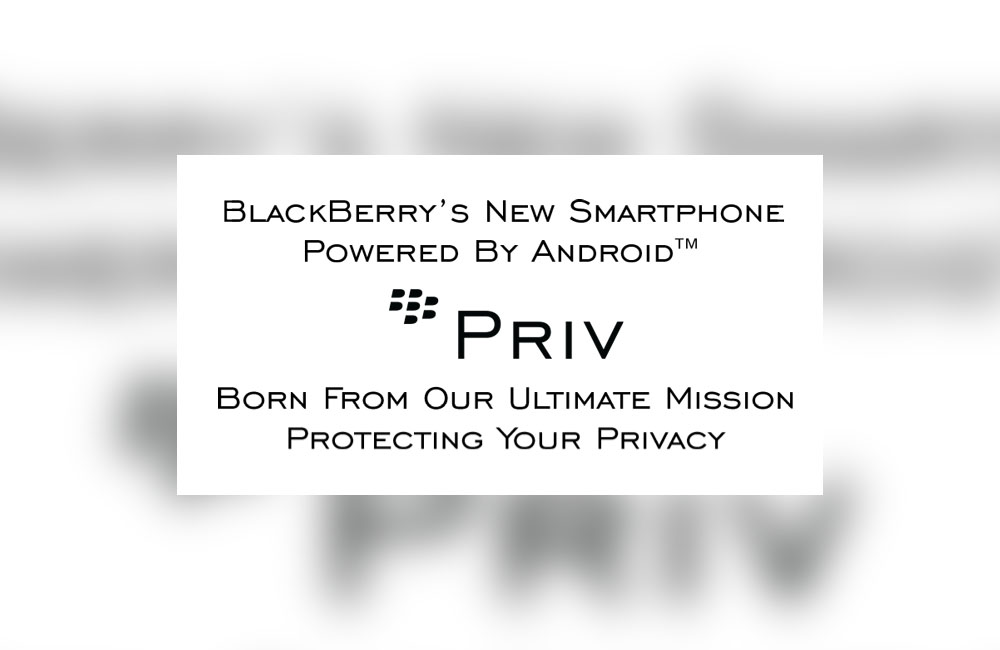 Blackberry Unveils Priv, An Android Slide Phone