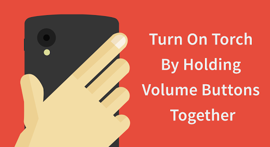 How To Enable Flashlight With Volume Buttons